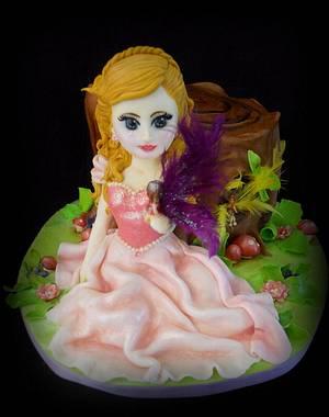 Princess & fairy cake - Cake by Sugar Inspired