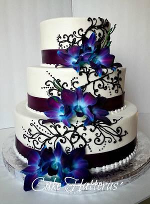 Jessica and Ryan - Cake by Donna Tokazowski- Cake Hatteras, Hatteras N.C.