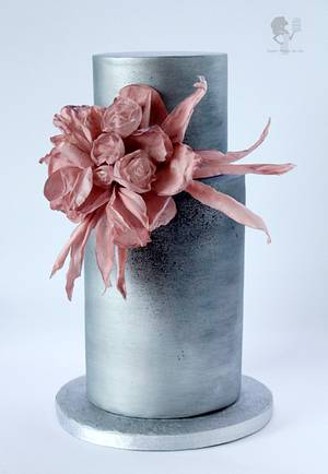 Wafer paper flowers - Cake by Antonia Lazarova