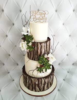 Rustic Beauty - Cake by Joonie Tan