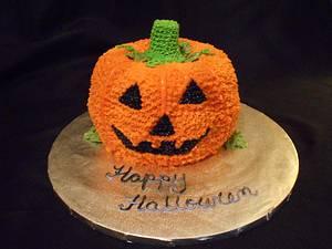 Jack O Lantern Cake - Cake by Angie Mellen