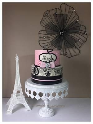 Paris Themed Cake - Cake by Ramids