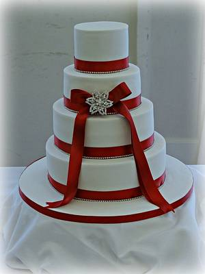 Claret wedding cake  - Cake by claire mcdonough