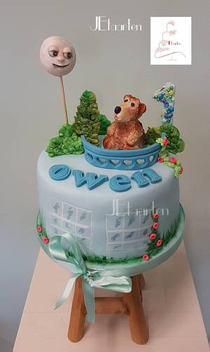 The brown bear and the blue house - Cake by Judith-JEtaarten
