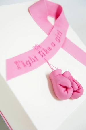 Fight - Go Pink Collaboration - Cake by Caroline Nagorcka
