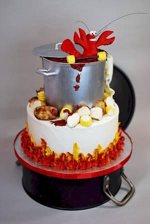 Crawfish Boil Birthday Cake - Cake by Jenniffer White