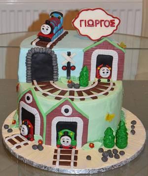 Thomas the train - Cake by My Sweet World_Elena
