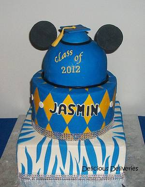 Mickey Mouse Graduation Cake - Cake by DeliciousDeliveries