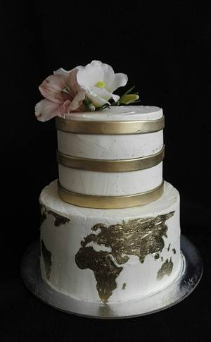 Map of the world - Cake by Anka