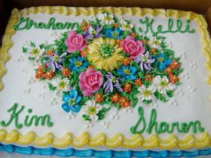 Summer buttercream flowers cake!   - Cake by Nancys Fancys Cakes & Catering (Nancy Goolsby)
