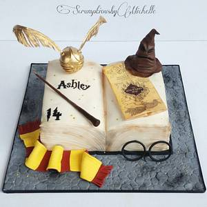 Harry Potter open book cake - Cake by Michelle Chan