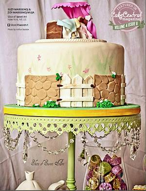 Cake Central Magazine Feature - Beatrix Potter Baby Shower Cake - Cake by Slice of Sweet Art