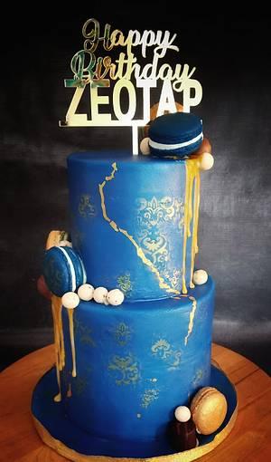 Royal blue cake - Cake by Savitha Alexander