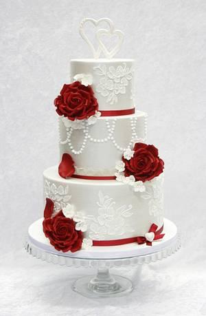 Valentine wedding cake - Cake by Sannas tårtor