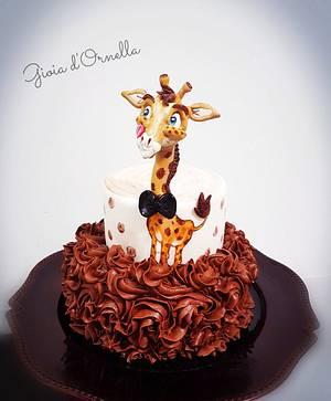 Rose cake Girafe - Cake by Ornella Marchal