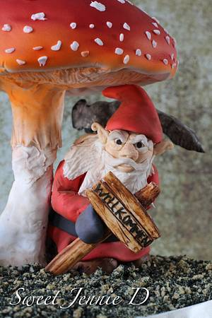 """Sinister Gnome: Eyes Watching You """"CPC Halloween Collaboration -  - Cake by Jennifer Kennedy O'Friel - Sweet JennieD"""