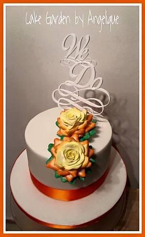Wedding cake Brazil-Netherlands - Cake by Cake Garden