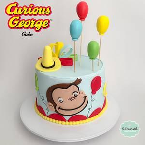 Torta Jorge El Curioso - Curious George Cake - Cake by Dulcepastel.com