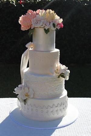 English Garden Wedding Cake - Cake by misscouture