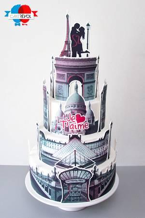 Paris, Je t'aime <3 - Cake by CAKE RÉVOL
