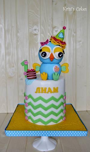 Cake 1-st Birthday my boy, Liam - Cake by KRISICAKES