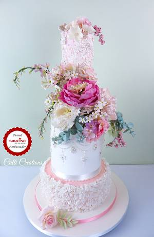 May Wedding Cake  - Cake by Calli Creations