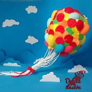 Balloons cake. - Cake by Dulces con ilusion