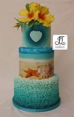 Summer Wedding cake - Cake by JT Cakes