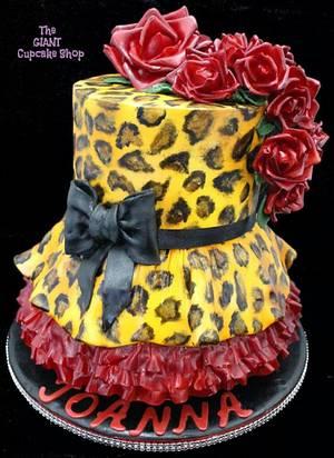 50's inspired leopard print - Cake by Amelia Rose Cake Studio