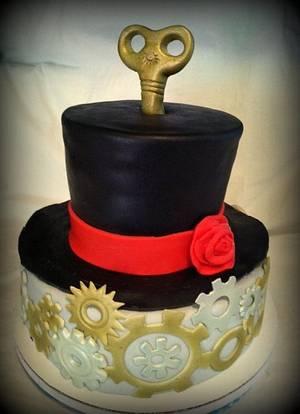 Steam Punk birthday cake - Cake by Angel Rushing