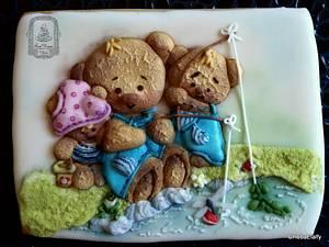 Teddy Bears Fishing  - Cake by Sweet Dreams by Heba