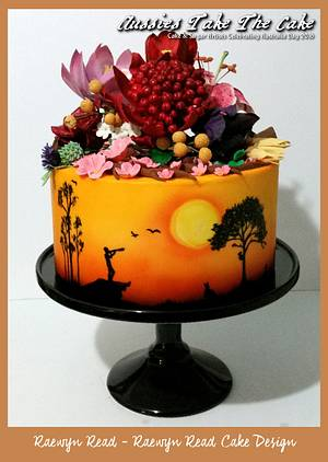 Aussies Take the Cake Collaboration - Our Multicultural Garden  - Cake by Raewyn Read Cake Design