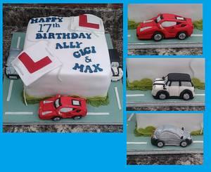Learner driver cake  - Cake by Karen's Kakery