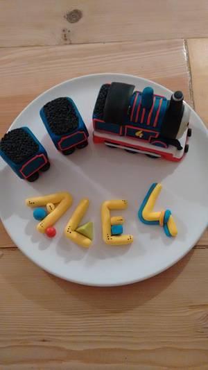 Thomas the tank engine cake topper - Cake by Clara