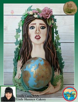 UNSA ACTS OF GREEN COLLABORATION- Mother Earth protecting her baby - Cake by LittleHunnysCakery