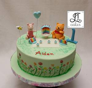 Aiden first birthday  - Cake by JT Cakes