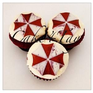 Resident Evil Umbrella Logo  - Cake by Angel Chang