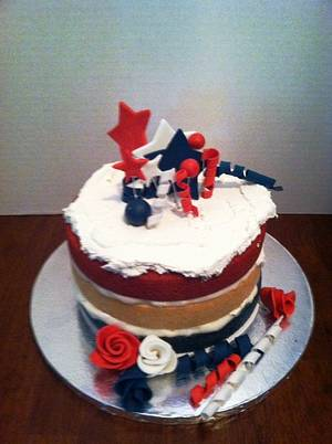 Rustic 4th of July  - Cake by Maureen