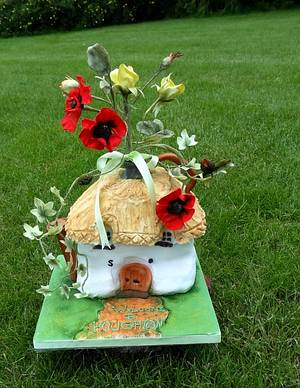 English Country Watering Can - Cake by Fifi's Cakes