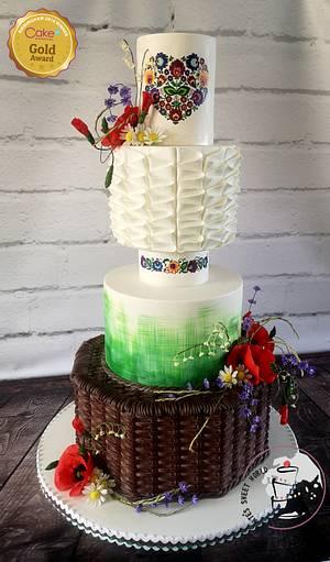 polish heritage wedding cake  - Cake by Katarzyna Rarok