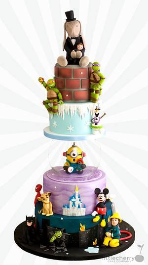 Cartoon Wedding Cake - Cake by Little Cherry