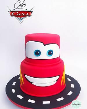 Torta Rayo McQueen - Lightning McQueen Cake - Cake by Dulcepastel.com