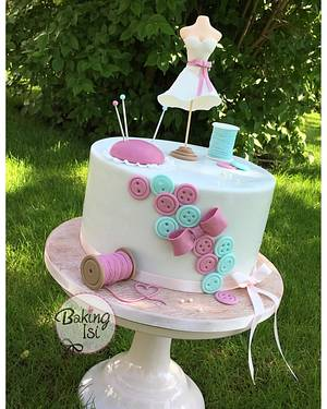 Sewing / stitching cake - Cake by Baking Isi