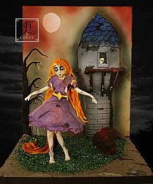 Zombie Rapunzel - The Sugar Zombies Collab - Cake by JT Cakes