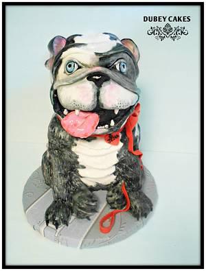 Bulldog - Cake by Bethann Dubey
