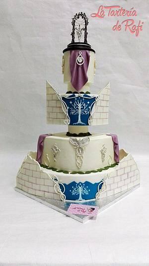 Wedding Cake Lord of the Rings, the Elves / Tarta de boda Señor de los anillos, los Elfos - Cake by Rafaela Carrasco (La Tartería de Rafi)