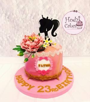 Princess Fatma's Birthday Cake 👑🌸 - Cake by Hend Taha-HODZI CAKES