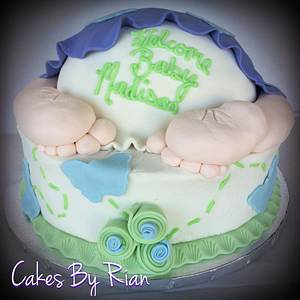 Baby Bum Butterfly Cake - Cake by Cakes By Rian