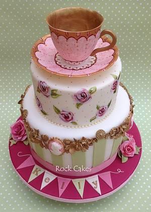 Vintage Tea Party - Cake by RockCakes