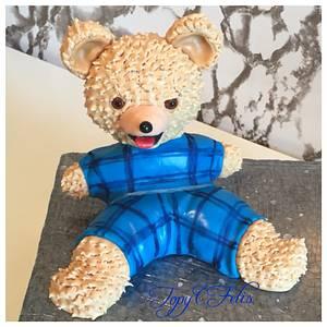 The teddy bear - cake topper - Cake by Felis Toporascu